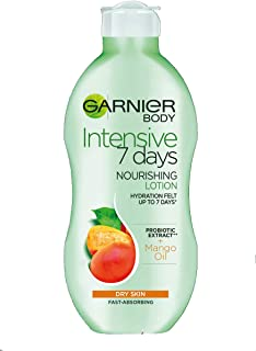 Garnier Intensive 7 Days Mango Oil and Probiotic Extract Body Lotion 250 ml, Softening and Smoothing Moisturiser, Up to 7 ...