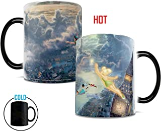 Morphing Mugs Thomas Kinkade Disney Tinker Bell and Peter Pan Fly to Neverland Heat Reveal Ceramic Coffee Mug - 11 Ounces