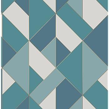 Fine D/écor FD42608 Papier peint Motif g/éom/étrique Bleu//argent/é