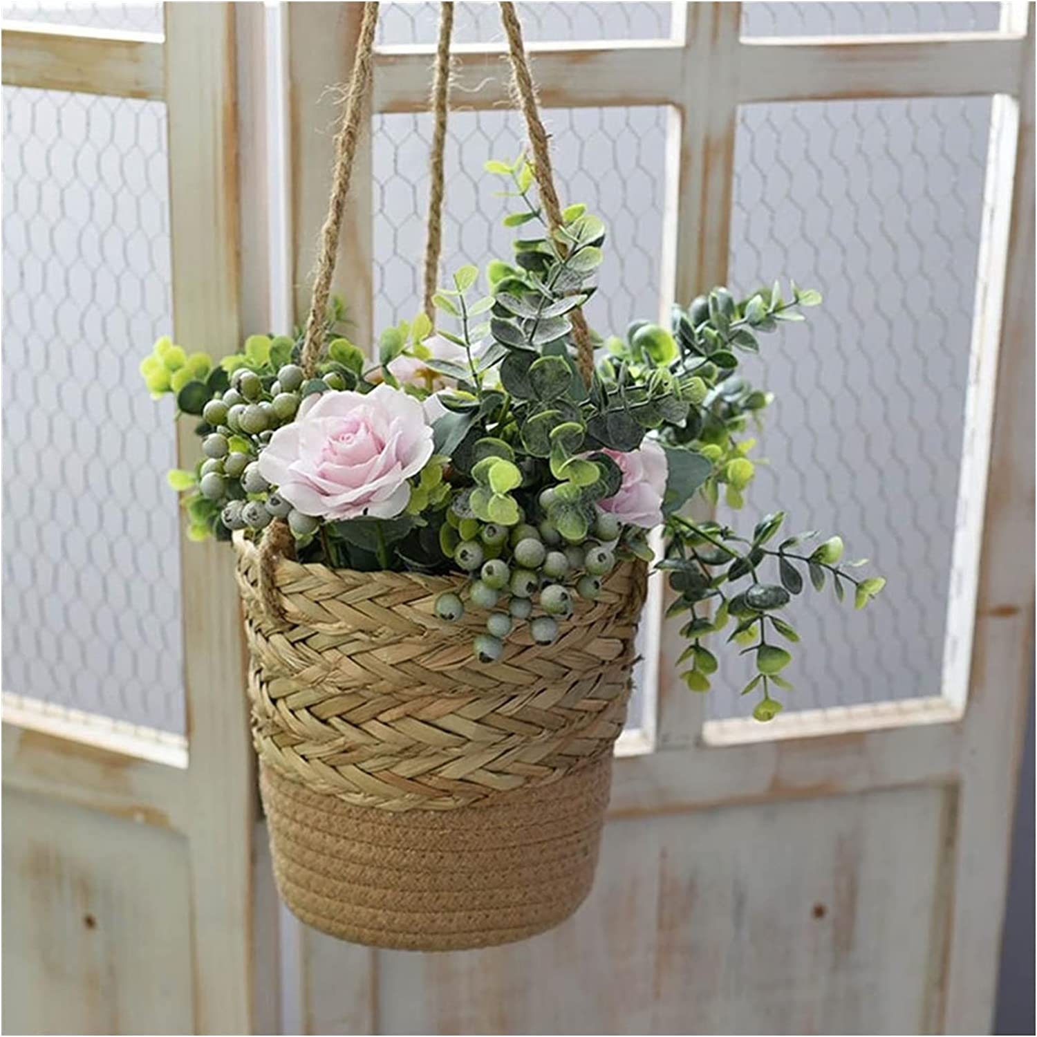Hanging Flower Pots Planter Ranking TOP19 Basket Wall F Woven Max 63% OFF Handmade