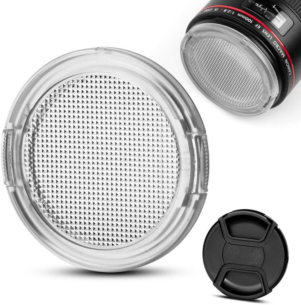 55mm Universal Side Pinch Plastic Lens Cap UK Stock