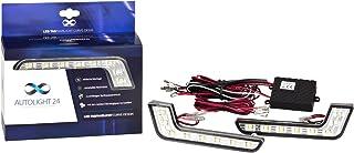 AutoLight24 LED Tagfahrlicht L Form Curve Design 12V 8 x SMD LEDs R87 Modul V19