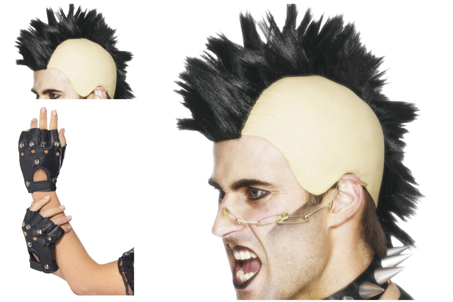 Fancy Dress World Pelucas Punk Unisex para Disfraz, Gran Peluca de ...