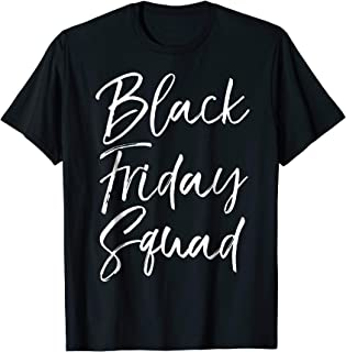 Black Friday Squad Shirt for Women Cute Matching Shopping