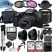 Canon EOS 90D DSLR Camera 32.5MP Sensor with EF-S 18-55mm Zoom Lens, 2 Pack SanDisk 32GB Memory Card, Case, Tripod and A-C...