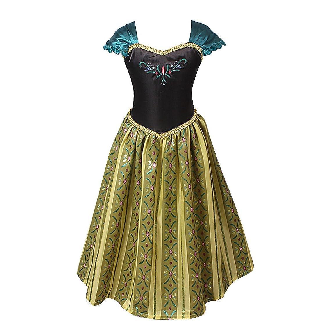 YiZYiF Kids Girls' Princess Cosplay Costume Birthday Party Fancy Dress Up dzhoousz2