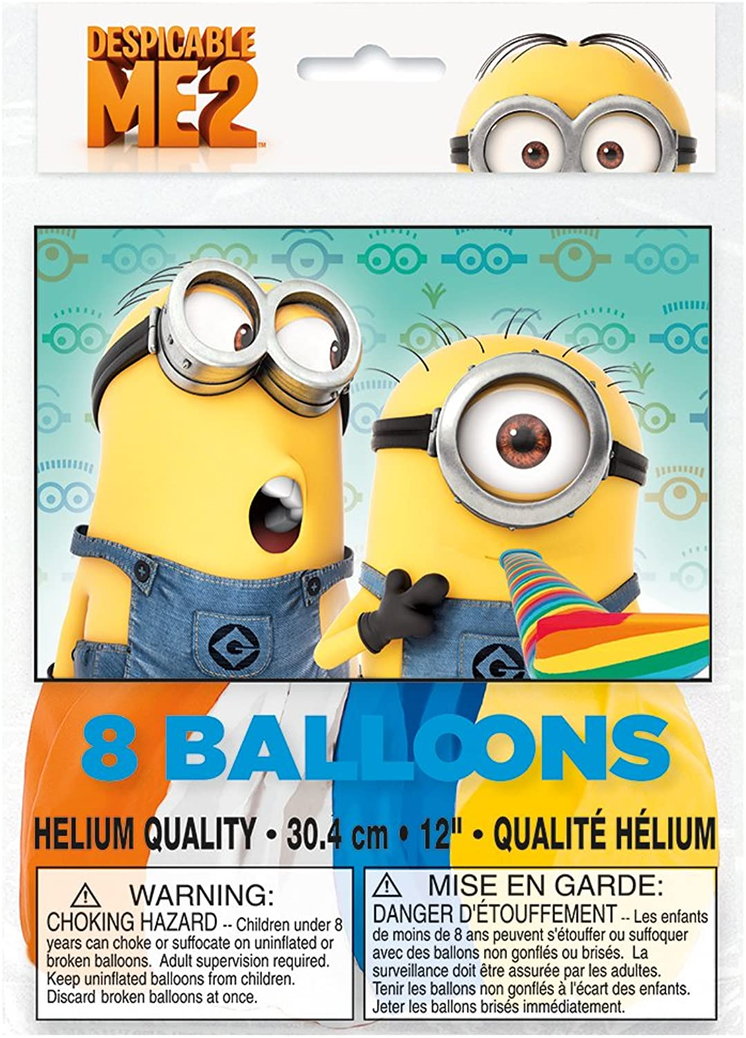 Despicable Me 2 Party Btuttioons [8 Per Pack]