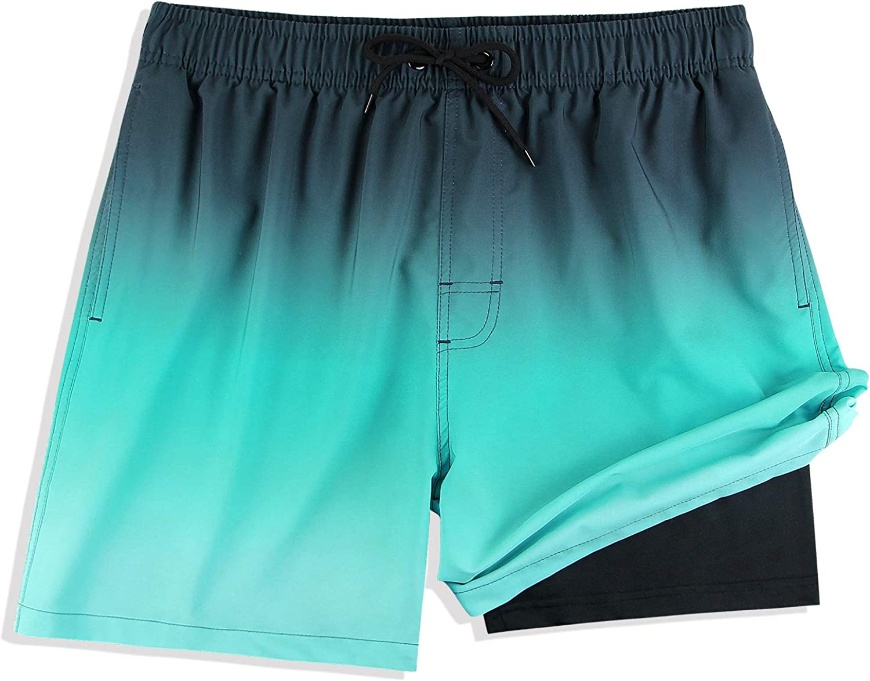 MILANKERR Compression Shorts for Men 5.5 inch Compression Lined Swim Trunks Men
