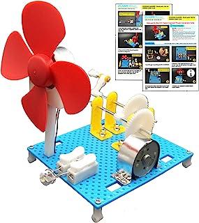 EUDAX DIY Dynamo Lantern Educational STEM Building Toy, Hand Cranked Power Generator,Generators Science Kit, Light Bulb Sc...