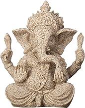 Home Decor Religious Sandstone Ganesha Buddha Elephant Statue Sculpture Handmade Figurine Miniature Craft Decor Ornament (...