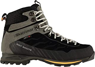 Mens Hot Route Mid Walking Boots Lace Up Waterproof