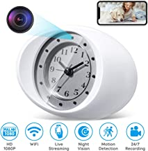 Hidden Spy Camera Wireless Nanny Cam with WiFi, Night Vision, Motion Detection, 1080P Full HD, No Sound Record, by SiCheer