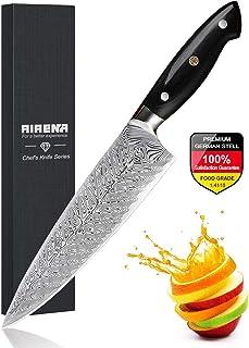 """Couteau de Chef, 8"""" Couteau Cuisine Professionnels - Acier Inoxydable Allemand - Extrêmement Tranchant - Résistant aux Tac..."""