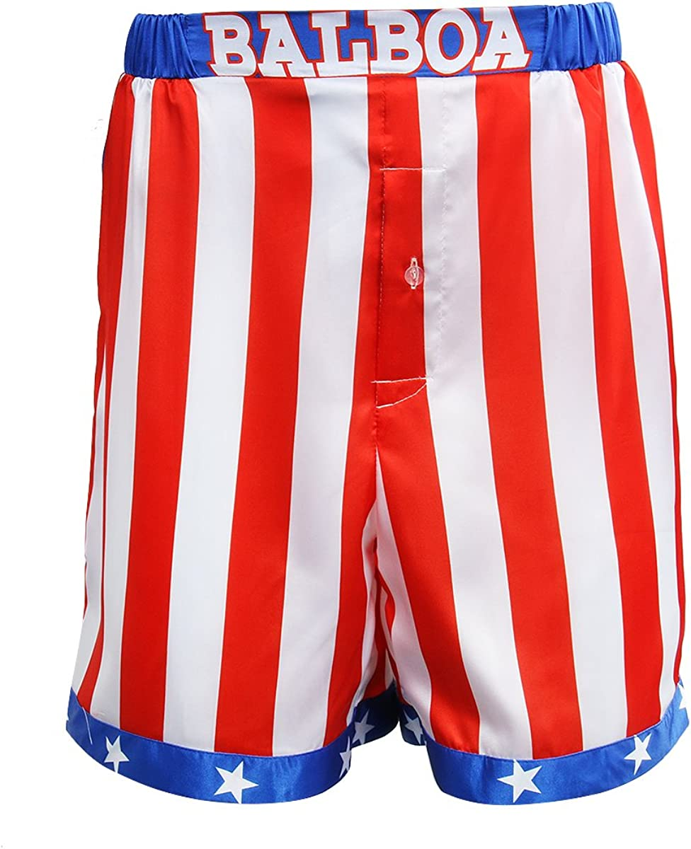 AMNPOLEN Adult Outlet SALE Mens American Flag Shorts Fixed price for sale Trunk Cost Satin Boxing