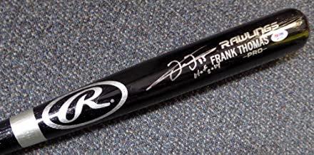 frank thomas autographed bat