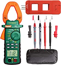 2000 Count Digtial Clamp Meter, Auto-Ranging Multimeters AC/DC Volt AC/DC Current Ohm Diode Resistance Test Voltage Tester (Clamp Meter+AC Line Splitter)