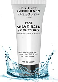 Post Shave Balm Aftershave for Men Lotion and Cream Moisturizer All-Natural and Organic Ingredients 4 Ounce Calms Skin Eliminates Razor Burn and Irritation