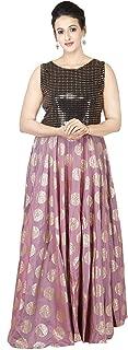Indian Dresses Store Graphone Women's Synthetic Lehenga Choli Purple