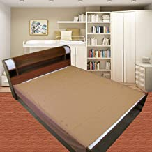 Dolphers Waterproof Plastic Mattress Protection Sheet for Baby and Adult - Double Bed/King Size - 7.5 x 6.5 feet - Golden Brown