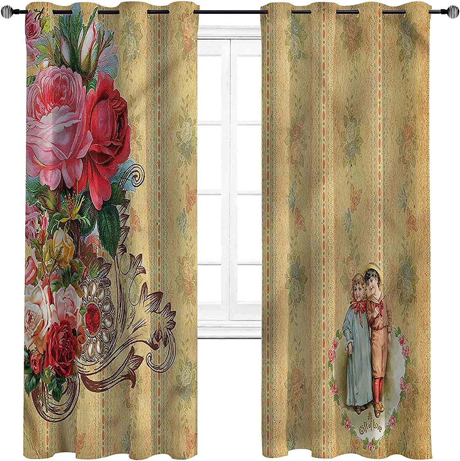 Vintage Bedroom Blackout Ranking TOP11 Curtains Memphis Mall Romantic Country Roses Full