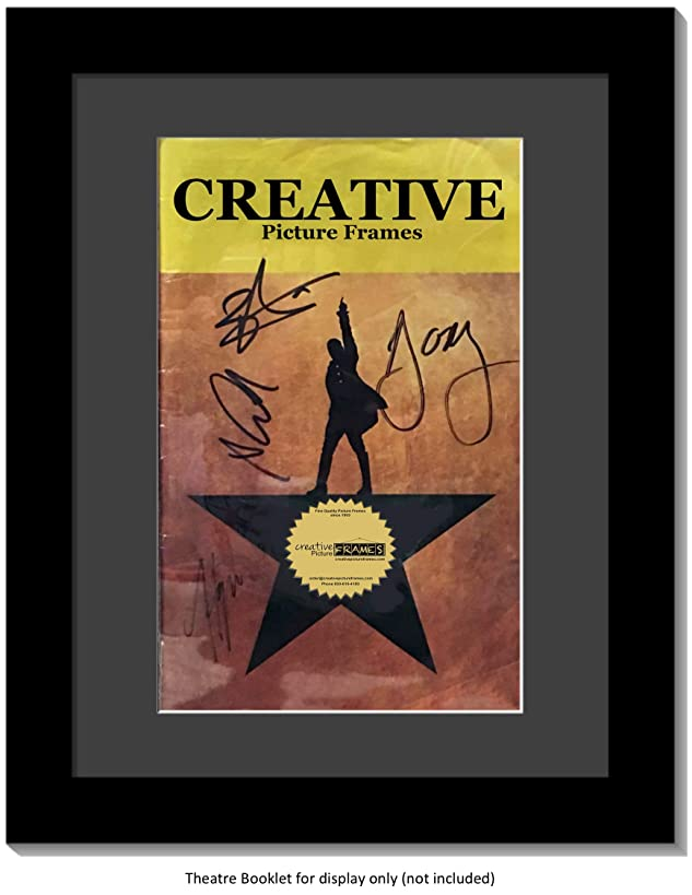 Creative Picture Frames [8.5x11bk-b Black Theatre Frame with Black Matting, Holds 5.5x8.5-inch Media with Installed Hanger and Stand (Theatre Bill Not Included)