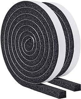 YoTache隙間テープ パッキンテープ 防風 防音テープ 気密防水パッキン 雨戸 サッシなどのすきまを防ぎ12mm (幅) x 12mm (厚さ) x 2m (長さ) x 2本
