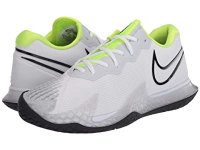 Nike NikeCourt Air Zoom Vapor Cage 4 (White/Black/Volt/Pure Platinum) Men