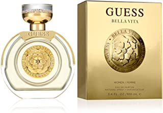 GUESS, Fragrance Bella Vita Eau De Parfum Edp Spray Perfume for Women, Gold, 3.4 Fl Oz