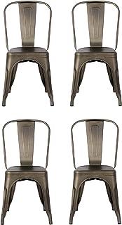 La Silla Española Silla tolix, Metal, Bronce, 45cm x 54cm x 85cm