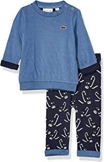 Lacoste Baby Layette Sweatshirt and Fleece Jogger Gift Box