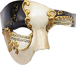 Half Face Men's Phantom of The Opera Vintage Design Venetian Carnival Masquerade Mask