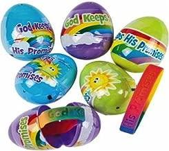 God Keeps His Promises Bracelet Filled Plastic Easter Eggs - 12 per Set