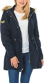 Auliné Collection Women's Versatile Military Safari Utility Anorak Street Fashion Hoodie Jacket