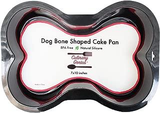 Silicone Dog Bone Shape Cake Pan for Puppy Birthday Cake Mix Novelty 7x10inch Small