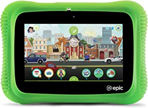 $93 » LeapFrog Epic Academy Edition 7-Inch Touchscreen Kids Tablet with 1.3 GHz Quad-Core Processor 16GB Memory and Android OS, Green (Non-Retail Packaging)