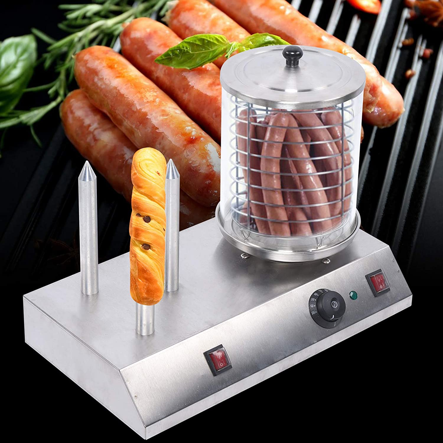 Hot Dog and Bun Toaster Brand new Buns NEW before selling ☆ Machine B Roller Cooker +