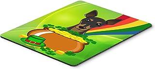Caroline's Treasures BB1984MP Min Pin St. Patrick's Day Mouse Pad, Hot Pad or Trivet, Large, Multicolor