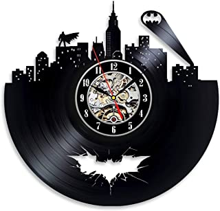 Everyday Arts Batman Gotham City Vinyl Wall Clock Stylish Gift Unique Gift for Teens Youth for Boys Secret Santa Gift for ...
