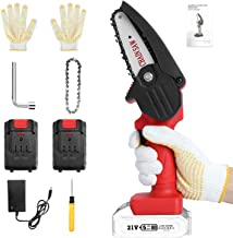 Sponsored Ad – Mini Chainsaw, Smalibal 4-Inch Cordless Electric Portable Chain Saw with 1 Chain Saw and 2 Pack 21V Recharg...