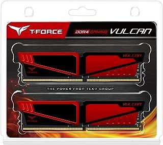Team 8GB (2 x 4GB) T-Force Vulcan DDR4 PC4-24000 3000MHz Desktop Memory Model TLRED48G3000HC16CDC0