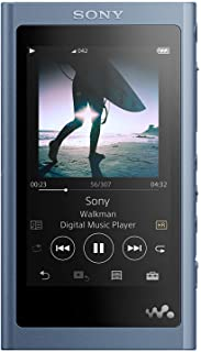 Sony NW-A55L 16GB Walkman Hi-Res Portable Digital Music Player with Touch Screen, S-Master HX and DSEE-HX - Blue