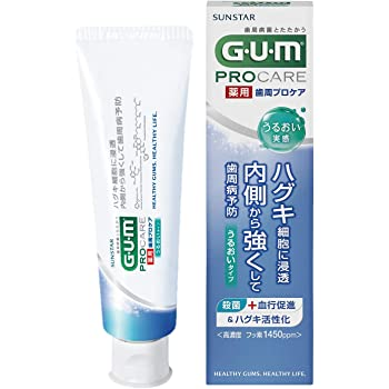 [医薬部外品] GUM(ガム) 歯周プロケア デンタルペースト うるおい実感タイプ <歯周病予防 歯みがき ハグキケア 高濃度フッ素配合 1450ppm> 単品 85g