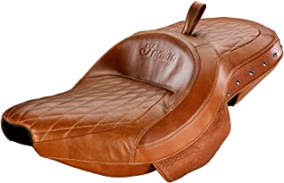 Indian Chief Chieftain Springfield Roadmaster TAN Studded Leather Extended Reach Heated SEAT