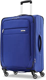 Samsonite Advena Expandable Softside Checked Luggage with Spinner Wheels, Cobalt Blue (Blue) - 109594-1217