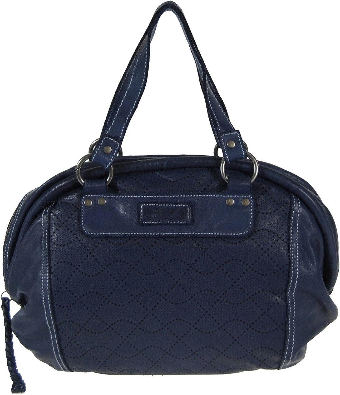 Bogy's Brooklyn New York Leder XL Handtasche Shopper Schultertasche Blau B01M8ODSIT