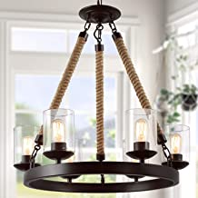 LNC Farmhouse Chandelier for Dining Rooms, Rustic Light Fixtures, A02992