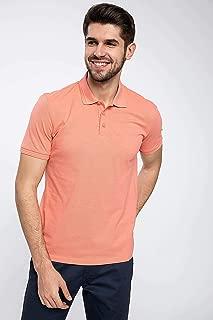 DeFacto Polo Yaka Kısa Kollu T-shirt Turuncu M
