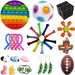 Bestek 30 Pcs Sensory Fidget Toys Set, Stress Relief and Anti-Anxiety Tools Bundle Toys Assortment,Stocking Stuffers for K...