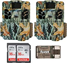 Browning Trail Cameras Dark Ops HD Pro X 20MP Game Cams (Camo) with Two 16 GB Memory Cards and Focus Card Reader Bundle