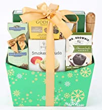 Remarkable Gift Co. Winter Wonderland Chocolate and Cheese Gift Basket